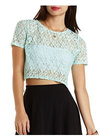 Boxy Lace Crop Top