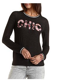 Chic Floral Graphic Sweatshirt