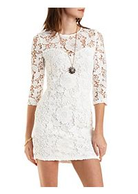 Bodycon Floral Lace Dress