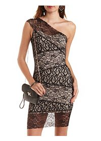 Mixed Lace Bodycon Dress