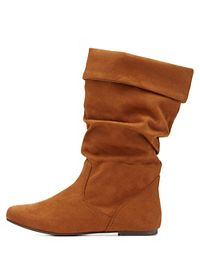 Slouchy Flat Fold-Over Boots