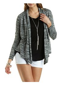 Space-Dyed Open Front Cardigan