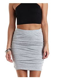 Ruched Bodycon Pencil Skirt
