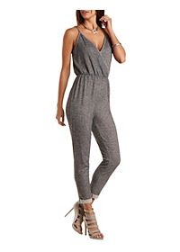 French Terry Surplice Tank Jumpsuit