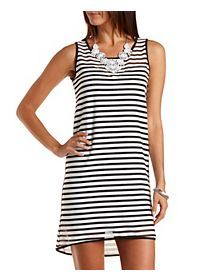 Striped Sweetheart Shift Dress