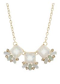 Faceted Opal Statement Necklace