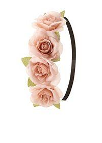 Rose Flower Crown Head Wrap
