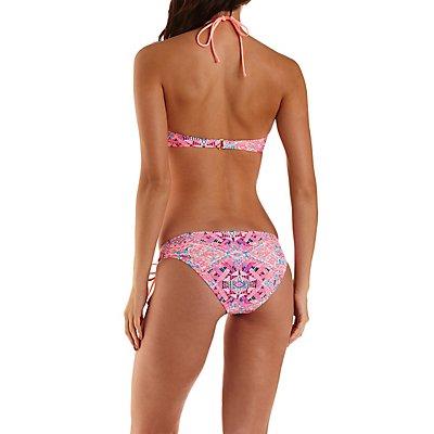Aztec Print High-Neck Halter Bikini Top