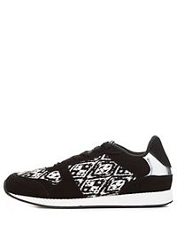 Ikat Print Lace-Up Sneakers