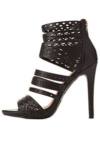 Strappy Laser Cut-Out Heels