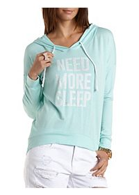 Jeweled Need More Sleep Graphic Hoodie