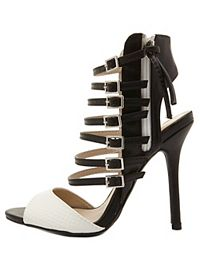 Super Strappy Two-Tone Heels