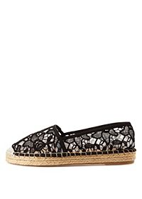 Slip-On Lace Espadrille Flats