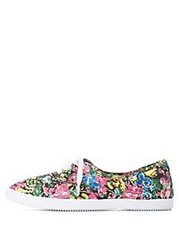 Print Canvas Lace-Up Sneaker