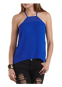Racer Front High-Low Tank Top