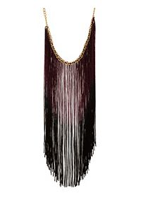 Ombre Fringe Statement Necklace