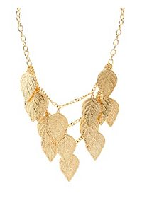 Tiered Leaf Bib Necklace