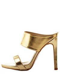 Strappy Metallic Mule Sandals