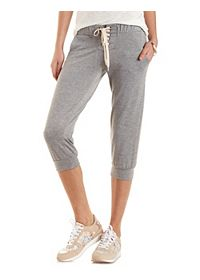 Lace-Up Cropped Sweatpants