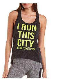 Run This City Graphic Tank Top