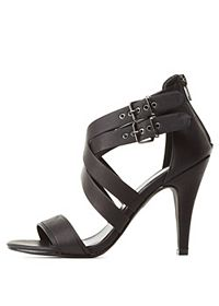 Layered Crisscrossing Strappy Heels