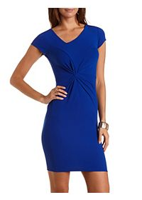 Knotted & Ruched Bodycon Dress