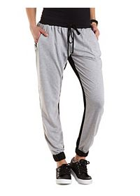 Color Block French Terry Jogger Pants