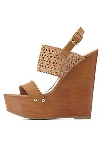 Textured Laser-Cut & Scalloped Wedges