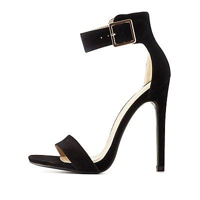 Single Sole Ankle Strap Heels