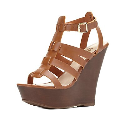 Gladiator Platform Wedge Sandals