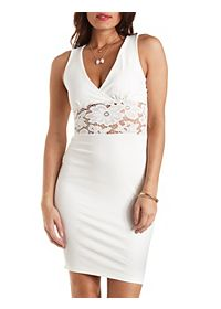 Lace-Waist Bodycon Dress