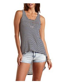 Corchet & Knit High-Low Tunic Tank Top