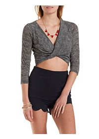 Twisted Wrap Crop Top
