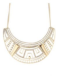 Aztec Cut-Out Collar Necklace