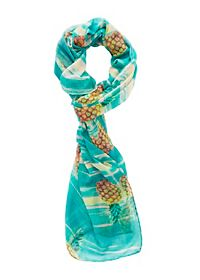 Pineapple Print Wrap Scarf