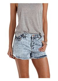 "Refuge ""Vintage Cheeky"" Cut-Off Denim Shorts"
