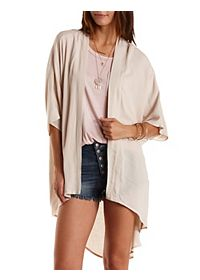 Lace-Back High-Low Duster Kimono