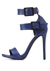 Double Ankle Strap Heels
