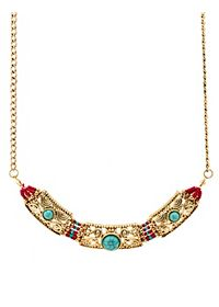Beaded Turquoise Collar Necklace