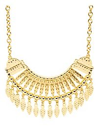 Hammered Golden Collar Necklace