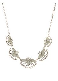 Fanned Gem Collar Necklace