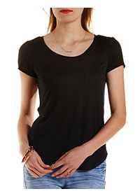 Slub Knit Boyfriend Pocket Tee
