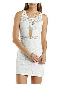 Cut-Out Bodycon Lace Dress