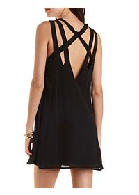 Strappy Chiffon Shift Dress