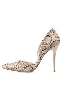 Python Print Pointed Toe D'Orsay Pumps