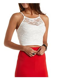 Racer Front Lace Crop Top