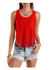 High-Low Lace Tank Top