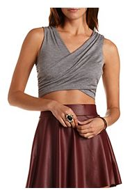 Ruched Wrap Crop Top