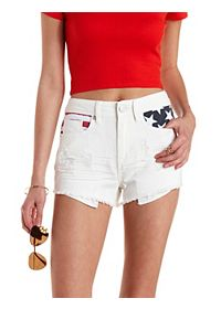 "Refuge ""Hi-Rise Cheeky"" Americana Denim Shorts"