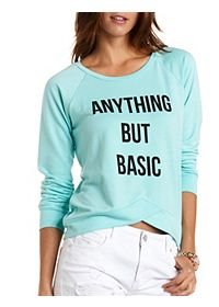 Anything But Basic Graphic Sweatshirt